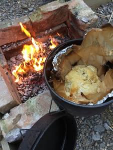 Australian damper made in Camp Oven