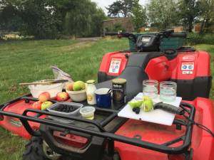 photo quad bike as kitchen