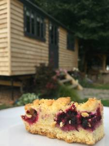 photo Mulberry slices and shepherd hut